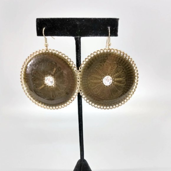 Jewelry - Earrings Womens Fashion Jewerly Brass-Colored Enam
